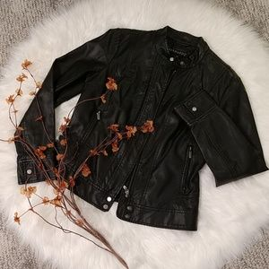 Bernardo 🖤 Faux Leather Jacket